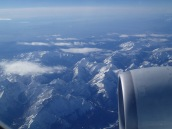 Flying over the Alps, Amsterdam to Kigali