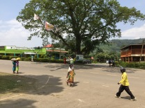 Street scene, junction at lunch stop, Kisoro