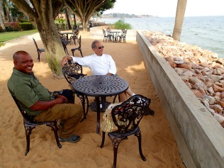 Marc and Kenneth, Protea Hotel, Lake Victoria, Entebbe