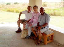 Marc, Gini, Kenneth, Queen's Pavilion, Queen Elizabeth NP