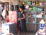 Lovely proprietress of restaurant and shop, Lake Bunyampaka salt pan overlook, Queen Elizabeth NP