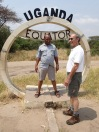 Marc and Kenneth at the equator
