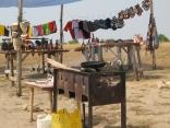 Crafts market, Lake Bunyampaka salt pan overlook, Queen Elizabeth NP