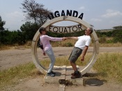 Gini and Marc at the equator