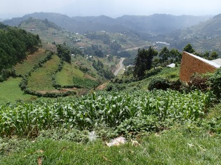 Vista, road to Lake Bunyonyi