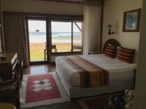Our room with view of Kazinga Channel, Mweya Safari Lodge, Queen Elizabeth NP