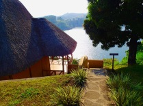 "Our cottage, ""Adyeri,"" at Crater Safari Lodge, overlooking Lake Nyinabulitwa near Kibale Forest National Park"