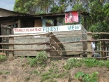 Tourist resting place, road to Bwindi