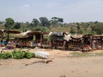 Vegetable market, road to Kampala