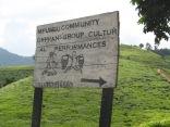Road sign, road to Bwindi