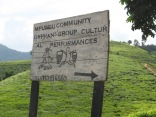 Road sign, road to Bwindi