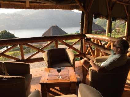 View from bar and lounge area, Crater Safari Lodge, Lake Nyinabulitwa