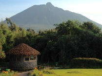 Clear morning view of Mount Sabyinyo, Gorilla Mountain View Lodge, Kinigi