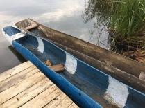 Local canoes, BirdNest Resort, Lake Bunyonyi