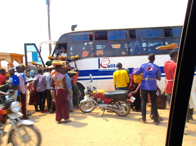Bus park, outskirts of Kampala