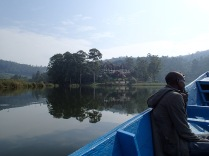 Justus, returning to BirdNest Resort, Lake Bunyonyi