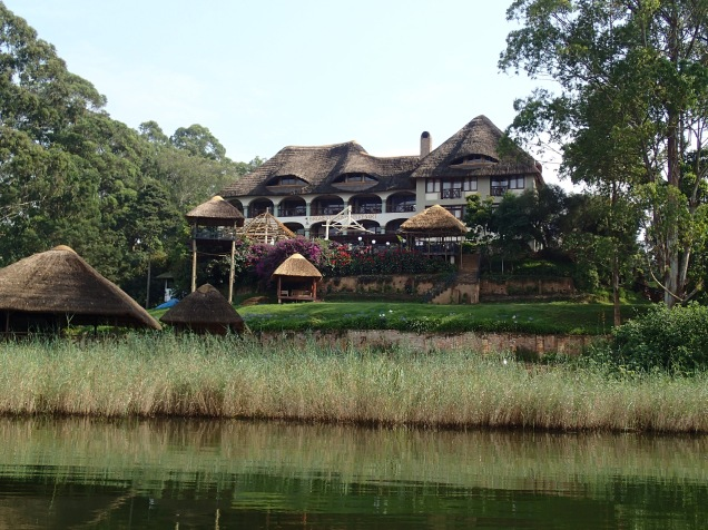 View of BirdNest Resort from Lake Bunyonyi