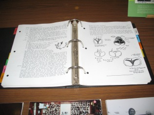 Reproduction of Dian Fossey's research notes, Karisoke Research Center, Musanze (Ruhengeri)