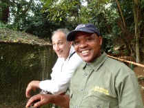 Marc and Kenneth, Entebbe Zoo
