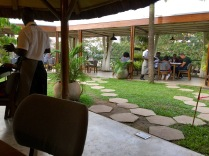 Wonderful dinner at very elegant restaurant, Le Petit Village, Kampala