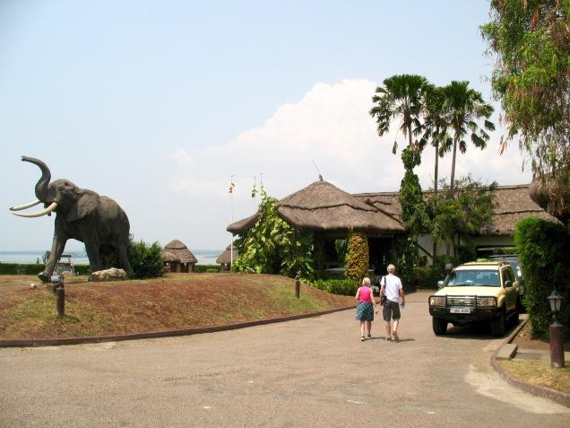 Entrance to Mweya Safari Lodge, Queen Elizabeth NP
