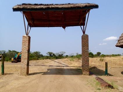 Gate at base of Mweya Peninsula