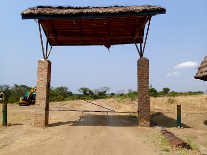 Gate at base of Mweya Peninsula