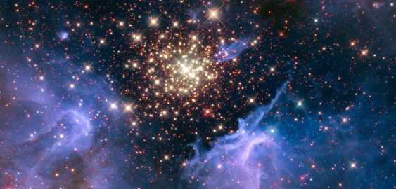 Star cluster NGC 3603 in constellation Carina / NASA, ESA et al. / Click for more.