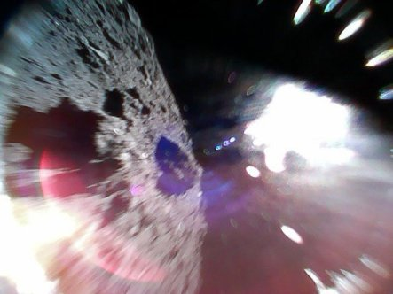 Minerva-II1A rover bounces on Ryugu asteroid, Sept. 21, 2018 / Japan Aerospace Exploration Agency, Space.com / Click for more.