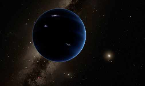 Illustration of Planet Nine with Sun in background / R. Hunt, Caltech, The Washington Post / Click for more.