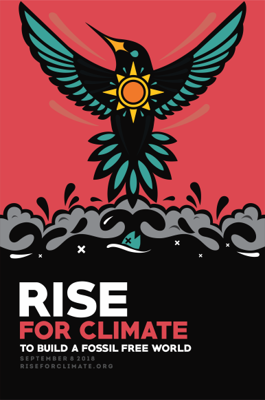 Rise for Climate poster art / Jhon Cortés , Rise for Climate / Click for more.