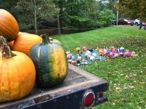 Pumpkin decorating, Fall Festival, Salisbury CT, Oct. 6, 2018