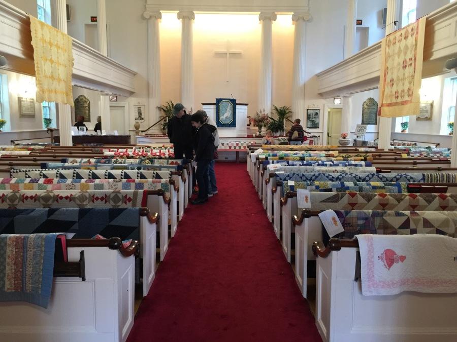 Quilt exhibit, Salisbury Congregational Church, Salisbury CT, Saturday Oct. 6, 2018
