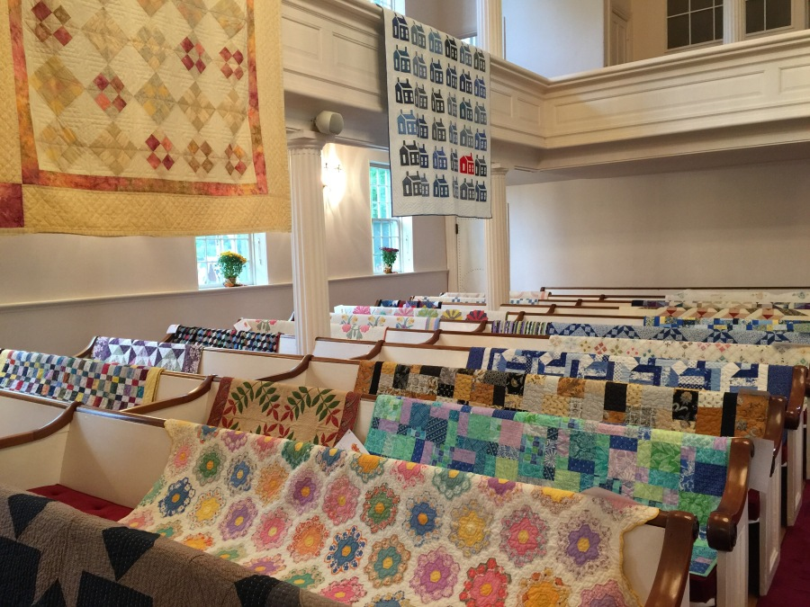 Quilt exhibit, Salisbury Congregational Church, Fall Festival, Salisbury CT, Saturday Oct. 6, 2018