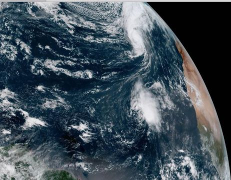 Hurricane Leslie & Tropical Storm Nadine, Oct. 12, 2018 / NOAA, Forbes / Click for more.