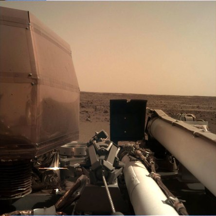 First photo taken by NASA's InSight lander after touchdown on Mars, Nov 26, 2018 / NASA / Click for more.