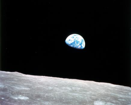 Earthrise from aboard Apollo 8, Dec 24, 1968 / William Anders, NASA / Click for more.