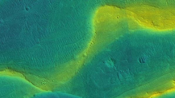 River channel on Mars / NASA, JPL, U of Arizona, U of Chicago / Click for more.