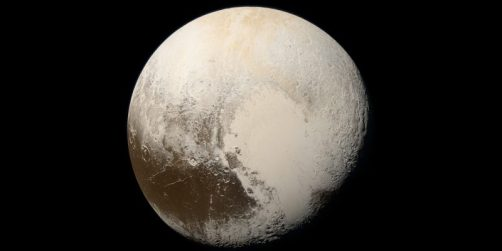 Pluto photographed by New Horizons spacecraft, 2015 / NASA, JHUAPL, SwRI, Alex Parker