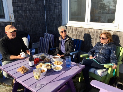 David, Randi and Carol, the day after Dorian, Kingsburg, NS, Sunday, September 8, 2019