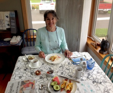 No-power breakfast, Beach House Inn by the Sea, French River, PEI, Wednesday, September 11, 2019