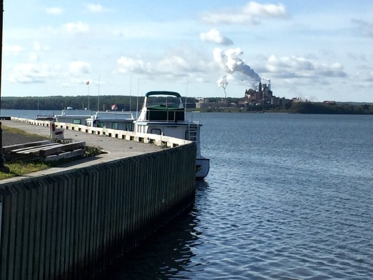 Northern Pulp seen from aboard Northumberland Ferry, Caribou, NS, Tuesday 9/10/19