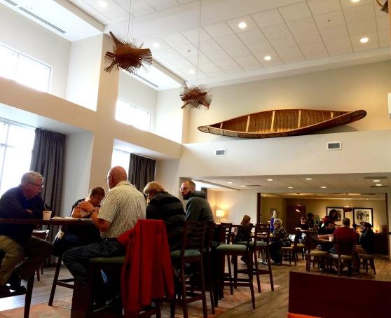 Breakfast room, Hampton Inn, Millbrook Power Centre, Saturday 9/14/19