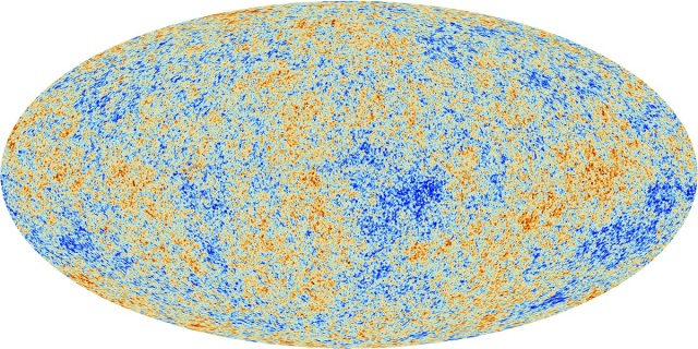 Planck Space Telescope Image of Radiation from Big Bang, 2013 / ESA, Earthsky / Click for more.